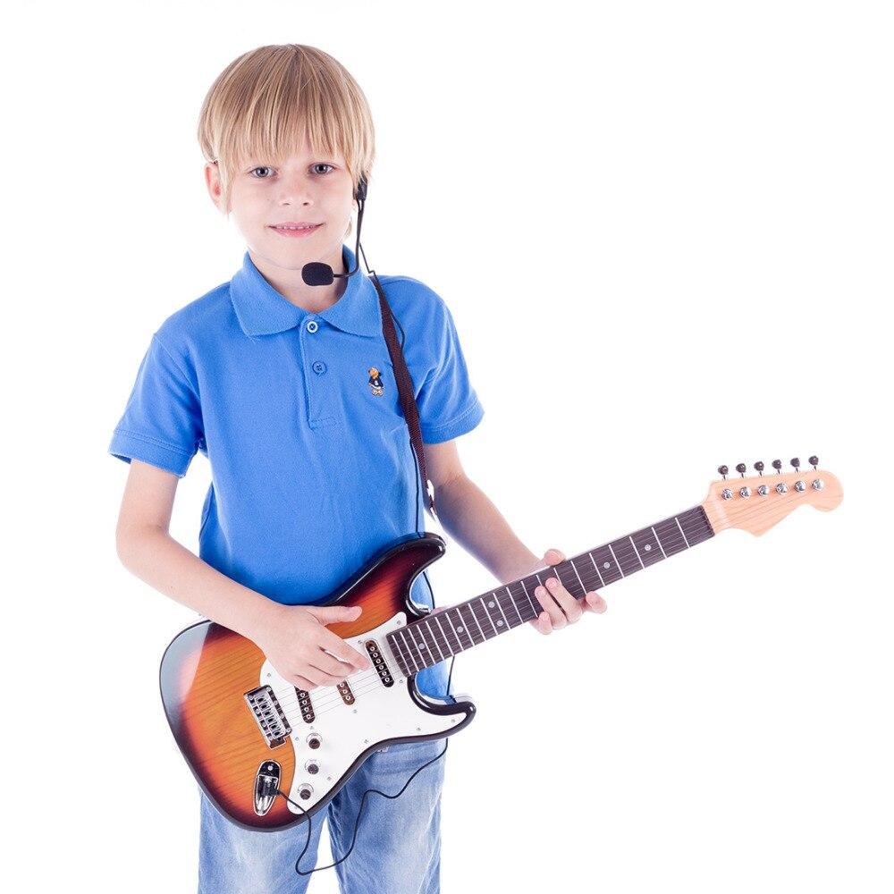 Enfants Guitare Électronique instruments de musique jouet éducatif Pour Début jouet éducatif instrument de musique Enfants Cadeau