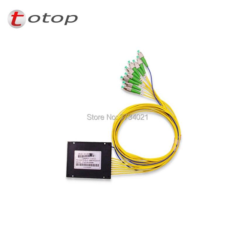 FREE SHIPPING ABS FC APC 1X8 BOX Fiber Optic Splitter FC APC Connector For Best Price