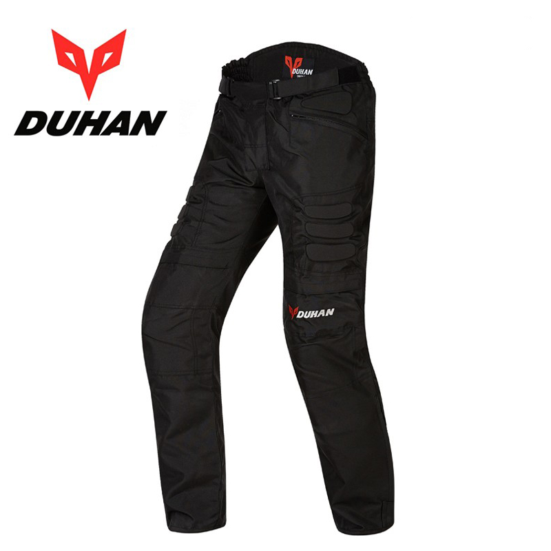 лучшая цена DUHAN D02 Men's Motorcycle knee guards Protection Pants 600D Oxford Motocross Racing Moto Riding Trousers Pants With Knee pads