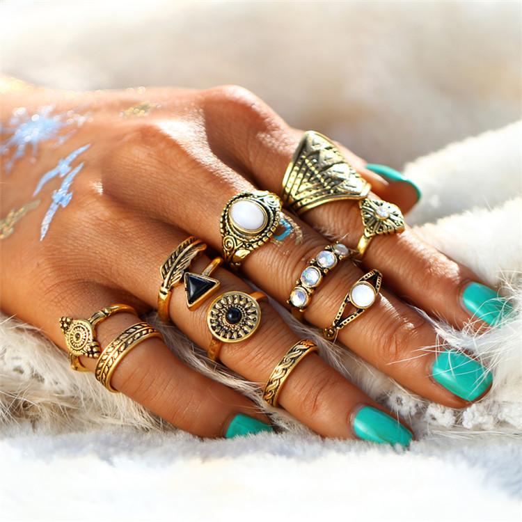 HTB1JfbORXXXXXbhaXXXq6xXFXXX0 Tribal Fashion 10-Pieces Vintage Midi Ring Set With Opal Stones - 2 Colors