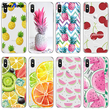 Pineapple Orange Cover For iPhone Xs Max XR 5 SE 6s S 8 7Plus For Xiaomi Redmi S2 3 4 4A 4X 5 Plus 5A 6 6A Pro Note 4 5 4X Case(China)