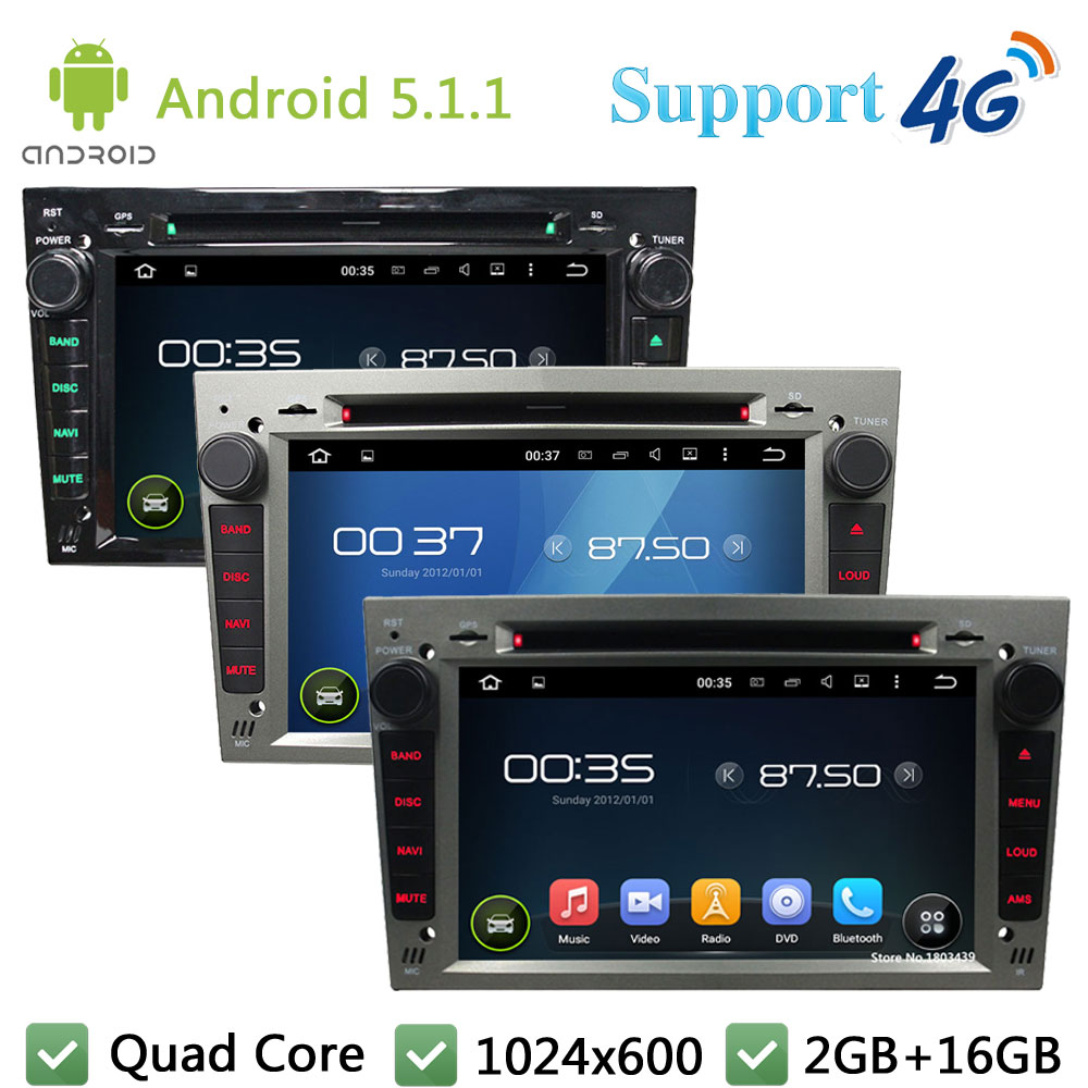 QuadCore Android 5.1.1 Car DVD Video Player Radio Stereo DAB+ 3G/4G WIFI For Opel Astra Antara Vectra Corsa Zafira Meriva Vivaro