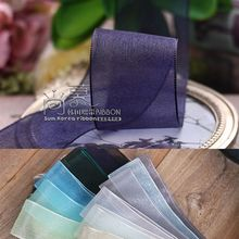 100yards 7/16/25/38mm organza sheer ribbon korean for gift packing garment accessories hair bow