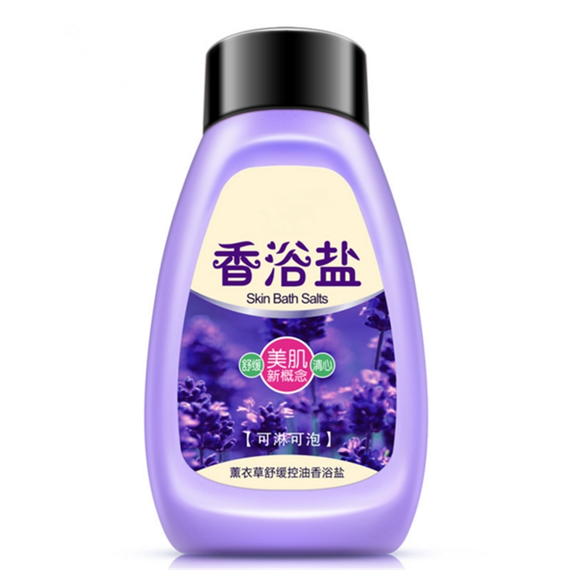 Plant Extracts Lavender Bath Sea Salts Mud Body Rub Replenishment Moisturizing Wash Care Exfoliating,Gentle Cleanses Skin Dirt.