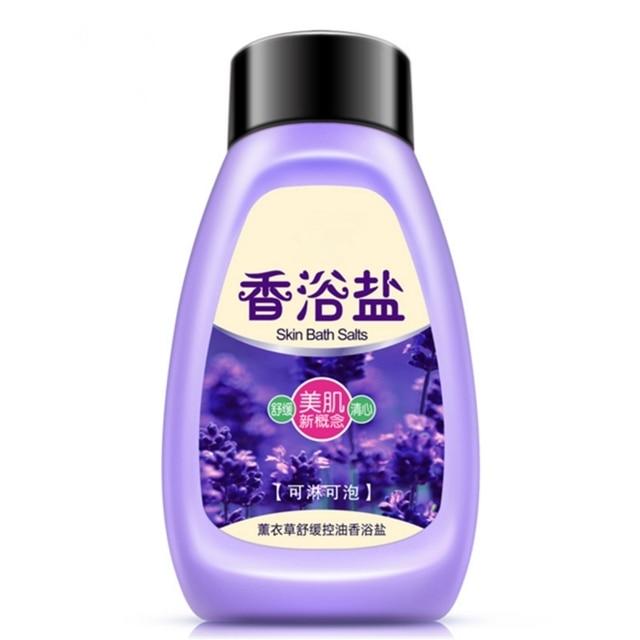 Plant Extracts Lavender Bath Sea Salts Mud Body Rub Replenishment Moisturizing Wash Care Exfoliating,Gentle Cleanses Skin Dirt.