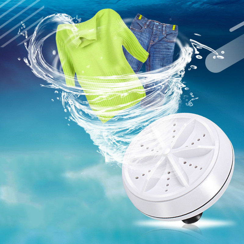 Ultrasonic Turbine Laundry Mini Business Travel Portable Washing Machine Shaking Home Appliances Cleaner Ultrasonic Washer