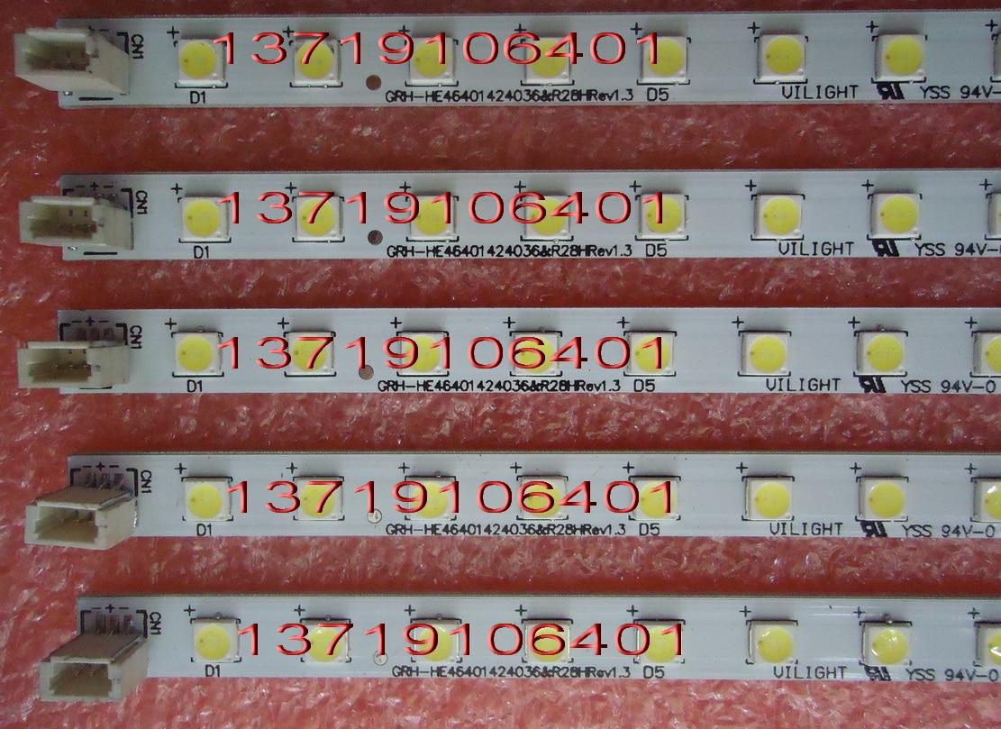 FOR Haier  H46E10  screen  H460EFC-BB1  Article lamp  CRH-HE4640142403L&R28H 1piece=72LED 590MM for haier le50a5000 50du6000 article lamp v500h1 me1 tlem9 1piece 68led 623mm