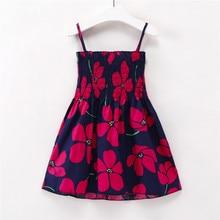 b68d3dc11 1-7 años niños niñas sin mangas de vestidos de verano para niños ropa de  algodón niño niña bebé vestido princesa vestido rojo fl.