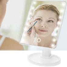 LED Tactile Écran Miroir De Maquillage Professionnel Vanity Miroir Avec 16/22 LED Lights Health Beauté Réglable Comptoir(China)