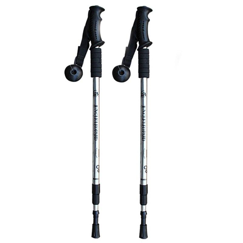 2 pçs/lote nordic pólos de caminhada ajustável trekking telescópica escandinavo varas anti choque caminhadas vara