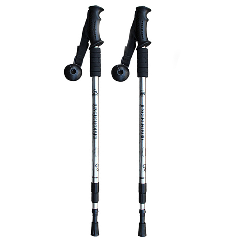 Telescopic Walking Poles Sticks Extending Adjustable Antishock Hiking CA