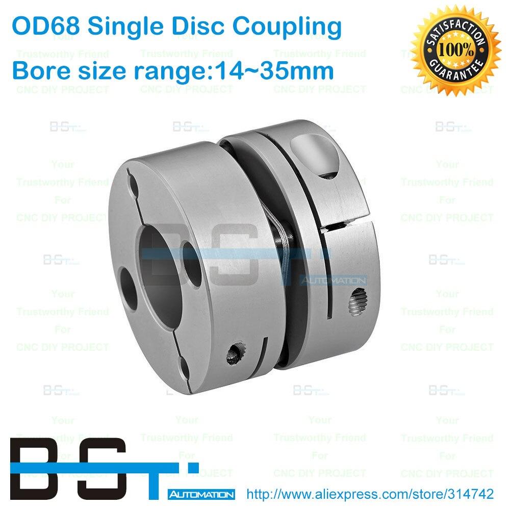 68mm Single Disc Coupling 55N m 14mm 15mm 16mm 17mm 18mm 19mm 20mm 22mm 24mm 25mm