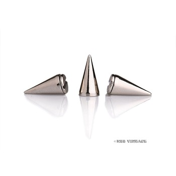 Wholesale !  500pc  Metal Punk Spikes Gothic Cone Stud Screwback Medium 5/8'' silver