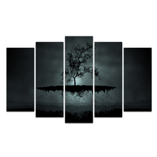 5 Pieces Customize Canvas Art HD Print Canvas Room Gray Flying Tree Wall Art Decorations Paintings For Living Room Wall Abooly
