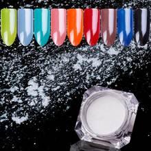 BORN QUEEN 1,5 г Высший сорт бриллиантовый белый жемчуг порошок для ногтей перламутровый мерцающий блеск хромированный пигмент для маникюра украшения ногтей