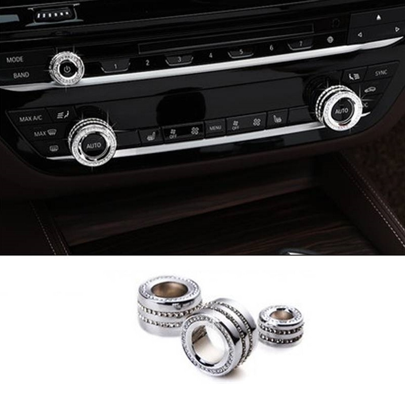 Car Auto Decorative Handbrake Gear Steering Wheel Interior Dashing Bright Sequins Parts Sticker 16 17 18