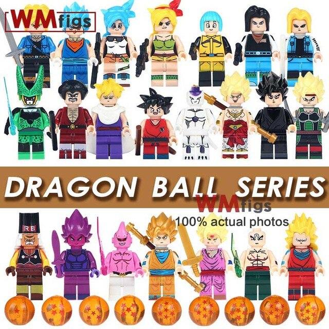 Single Sale Dragon Ball Z Figures Goku Vegeta Perfect Cell Majin Buu Tien  Shin Han Bulma Bardock Building Blocks Children Toys 4f205183286c