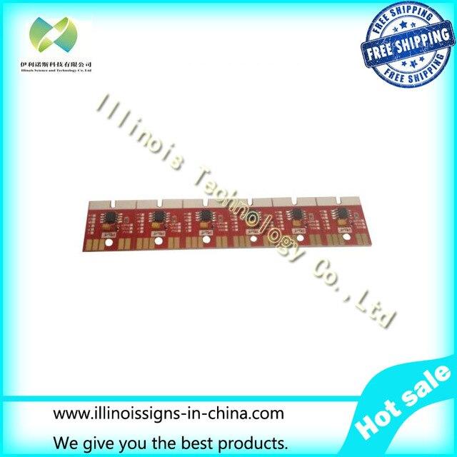 ФОТО Chip Permanent for Mimaki JV300 / JV500 SB53 Cartridge 6 Colors CMYKLCLM printer parts
