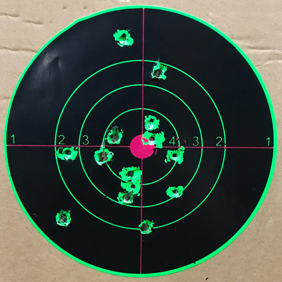 Image 3 - Target Shooting 14 X 14CM Splash Flower Target 5.5 Inch Adhesive Reactivity Shoot Target Aim for Gun / Rifle / Pistol Binders-in Paintball Accessories from Sports & Entertainment