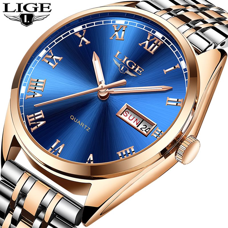 Relogio Masculino 2019 New LIGE Mens Watches Top Brand Luxury Date Sport waterproof Quartz Watch Man Fashion Business Clock+BoxRelogio Masculino 2019 New LIGE Mens Watches Top Brand Luxury Date Sport waterproof Quartz Watch Man Fashion Business Clock+Box