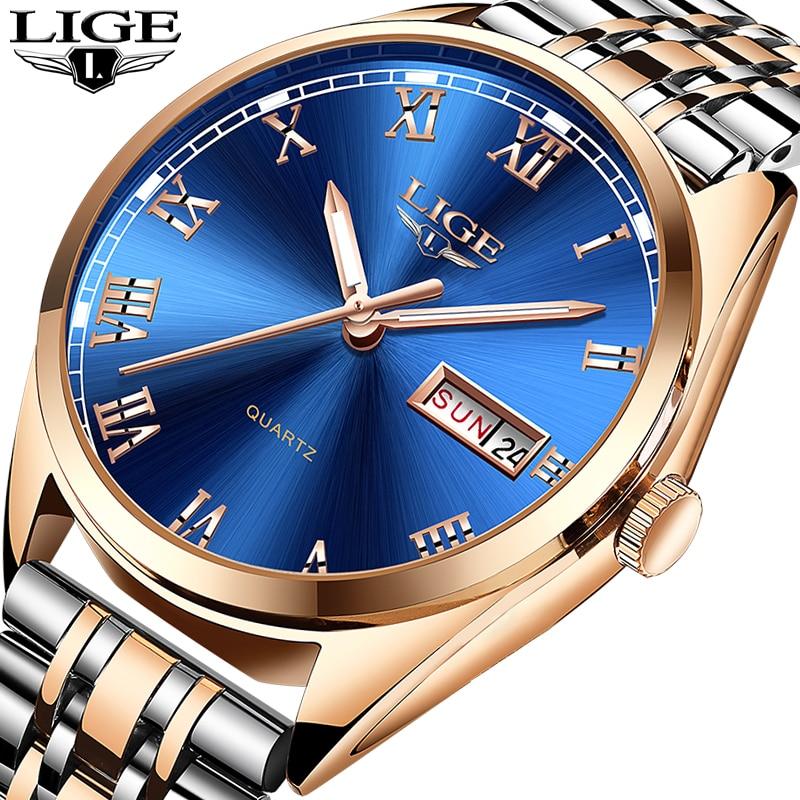 Relogio Masculino 2019 New LIGE Mens Watches Top Brand Luxury Date Sport waterproof Quartz Watch Man Fashion Business Clock+Box