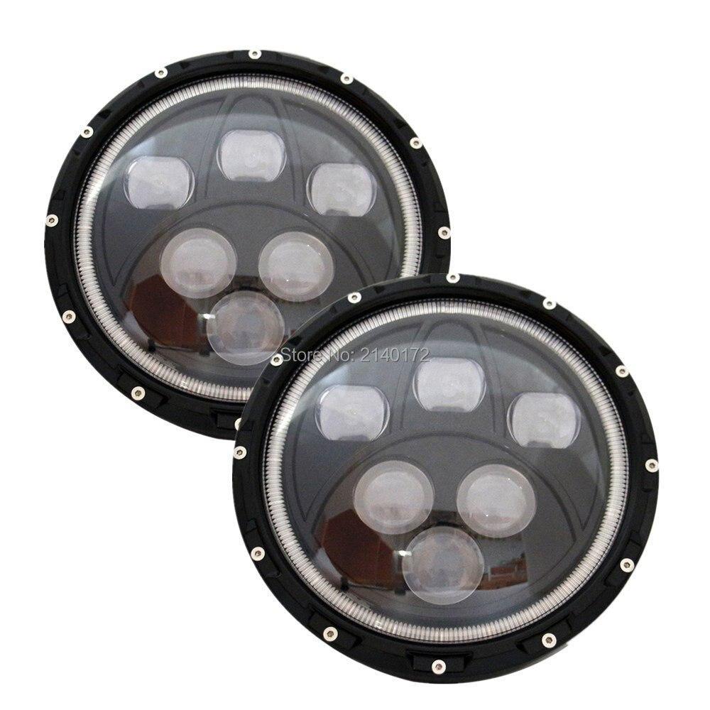 For  Jeeps Wrangler Halo Headlamp Super Bright 60W LED Headlight for JK TJ Cruiser Trucks Motorcycle headlamp