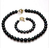 Fashion Jewelry Freshwater Pearl Necklace Bracelet Set Hot Selling Women Jewelry Set Best Gift