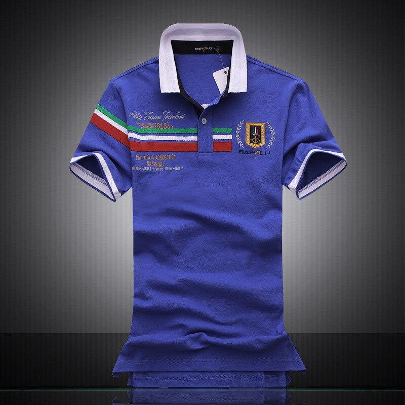 2019 hommes polo marques 100% coton revers à manches courtes broderie courte Polo chemise hommes Polos hommes homme de haute qualité