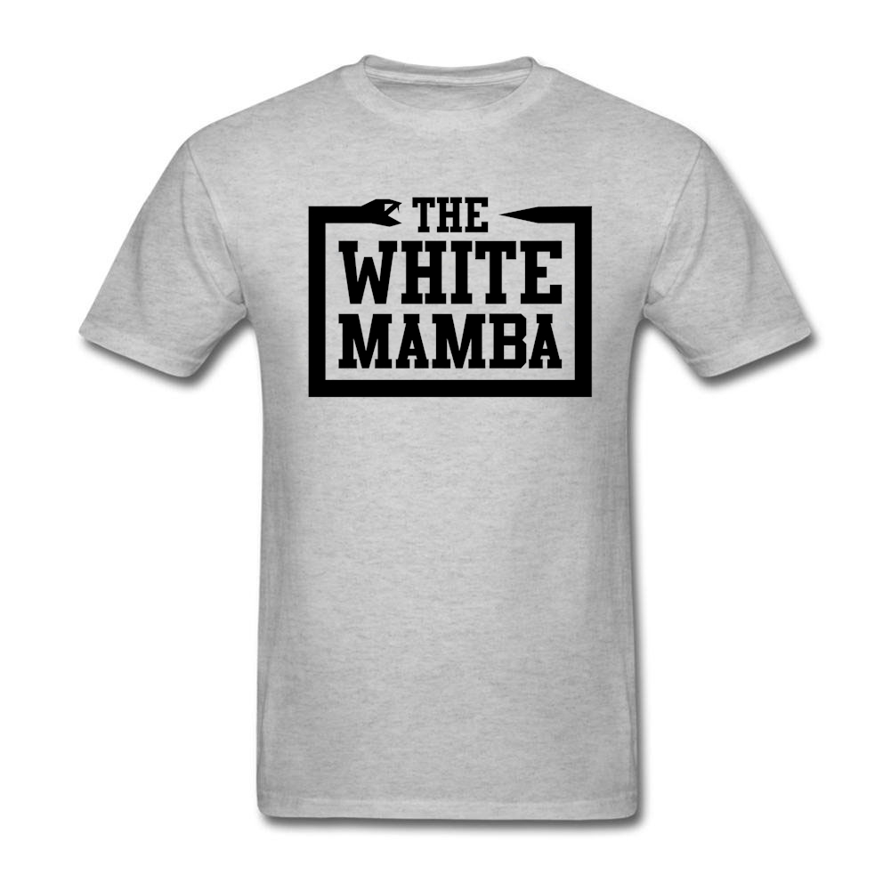 Mens funny quotes graphics t shirt White Mamba t shirts for man Classic Collar Tee Wholesale