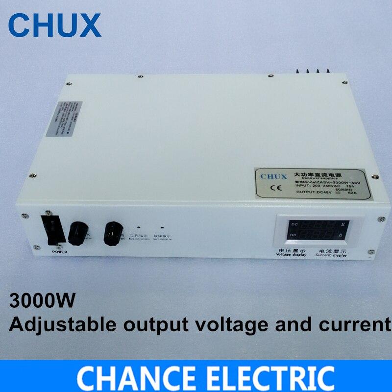 3000 Вт 36 В 48 В 50 В 60 В 72 В 80 В 90 В 100 В Регулируемый импульсный источник питания переменного тока в постоянного тока для светодио дный свет лабор