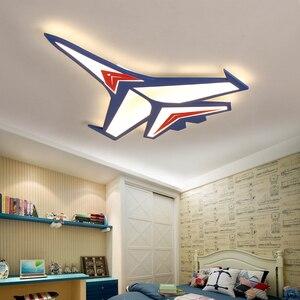 Image 2 - الكرتون الطائرة Led أضواء السقف الحديثة الأطفال مصباح السقف للطفل غرفة نوم المنزل داخلي إضاءة للتزيين تركيبات