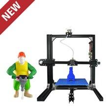 2017 Обновленный Большой Размер Печати Наливные Домашнего Использования Личная 3D Принтер Алюминия Структура Упростить 3D/Кура Программное Обеспечение