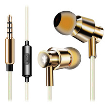 Professional 3.5mm In-Ear Stereo Wired Earphones Metal Heavy Bass Earphone Microphone Quality Sound Music Accessories Handsfree
