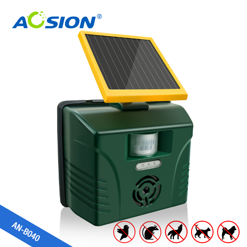 AOSION Solar Motion Activated Garden Ultrasonic Animal Repeller Effectively Drive Cats,birds,dogs,foxes,deer
