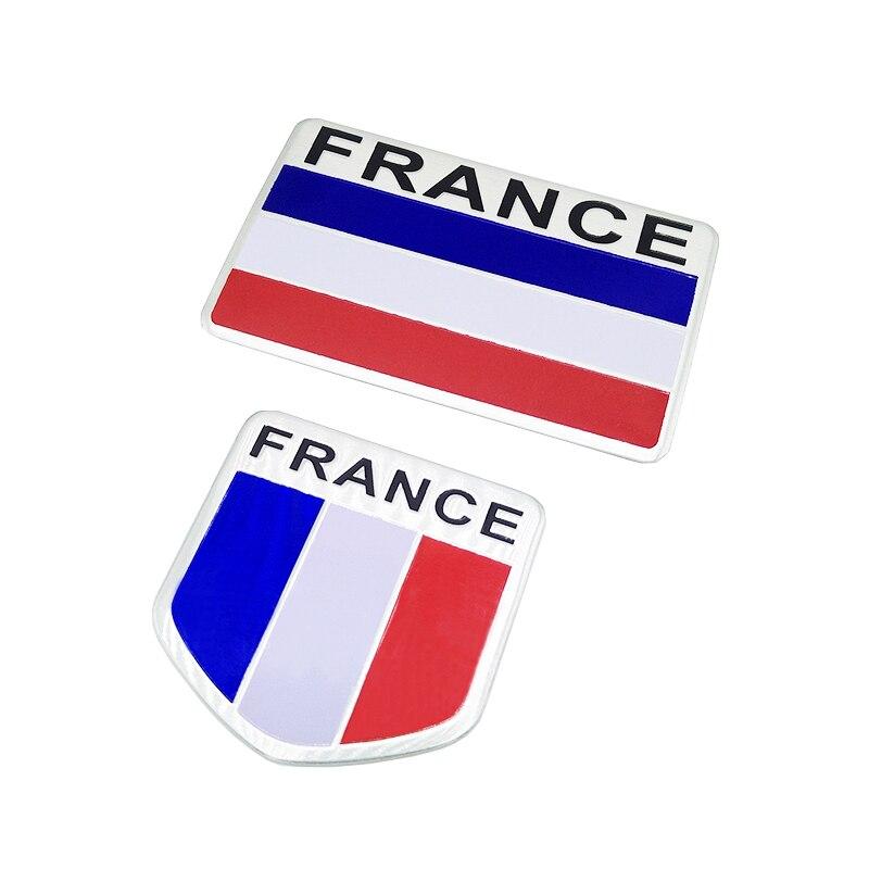 Fashion quality 3D Aluminum Russia Flag car Badge Emblem 3M sticker accessories