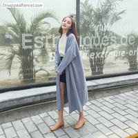 DRL 2017 Autumn For Chi C Elegant Loose No Button Design Long Cloak Sweater Outerwear Solid