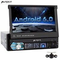 Calabaza 1 Din 7 ''Android 6.0 Universal de Coches Reproductor de DVD GPS navegación Quad Core Coche Radio Estéreo de Audio Bluetooth Wifi Gratuito Mapa