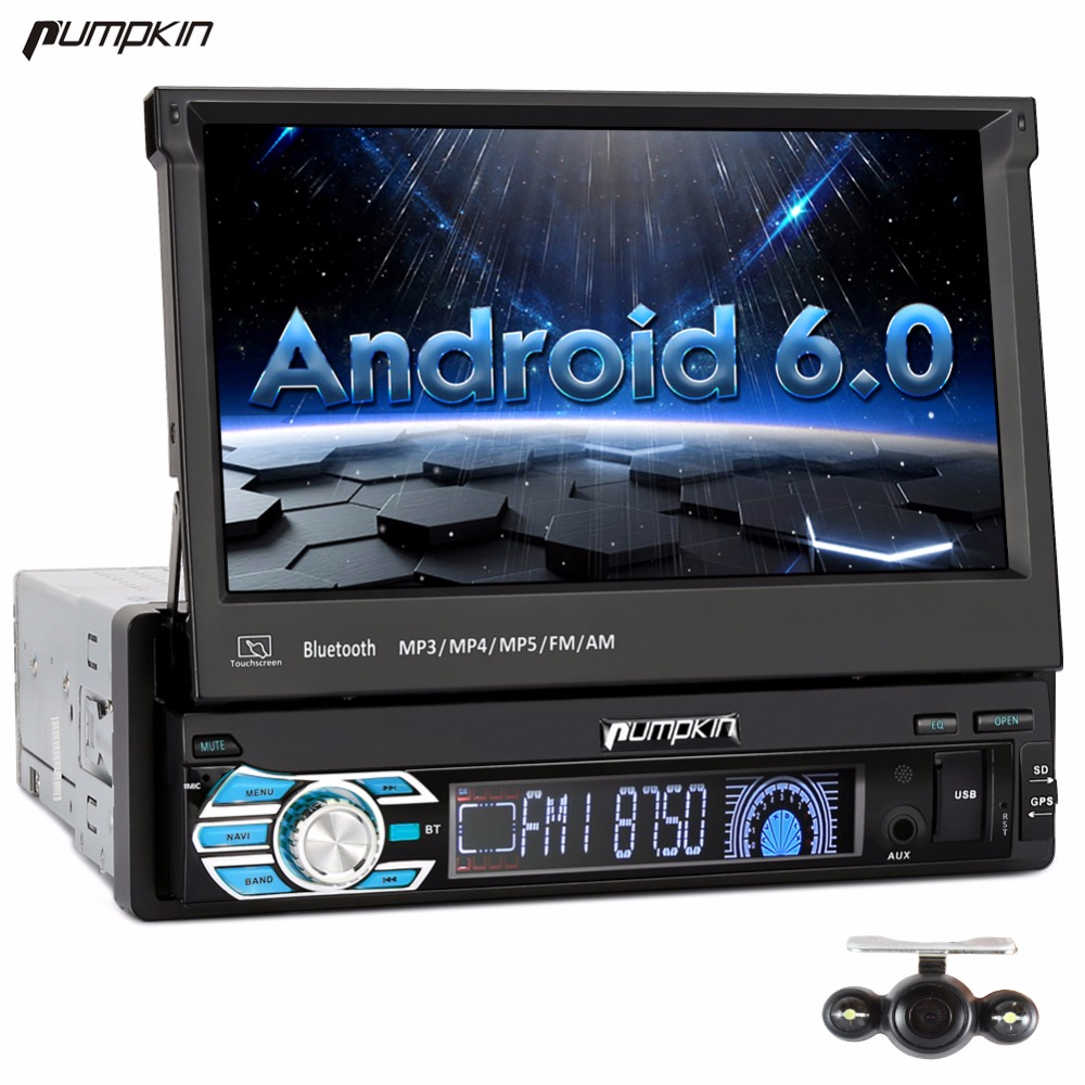 pumpkin 1 din 7 39 39 android 6 0 universal car dvd player gps. Black Bedroom Furniture Sets. Home Design Ideas
