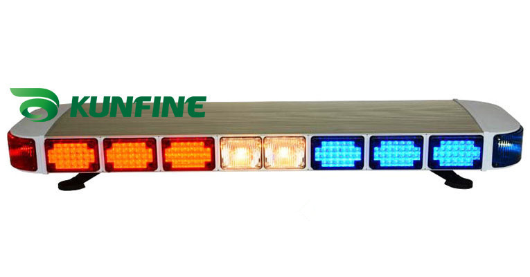 1.2M DC12V/24V Police lightbar High-power LED and halogen light bar  flash traffic(waterproof IP64) KF5500 1 2m dc12v 24v police lightbar high power led and halogen light bar flash traffic waterproof ip64 kf5500