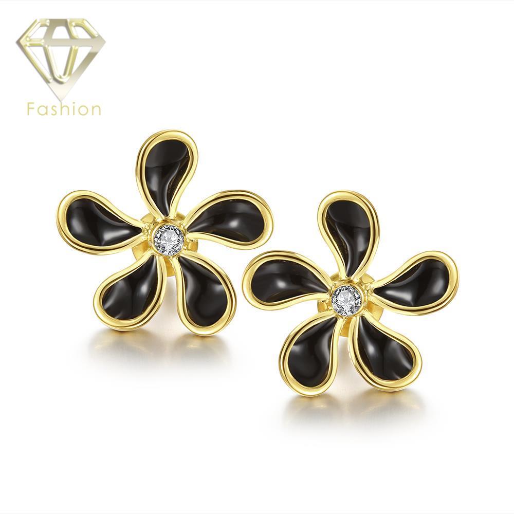 White Gold Stud  Earrings Fashion