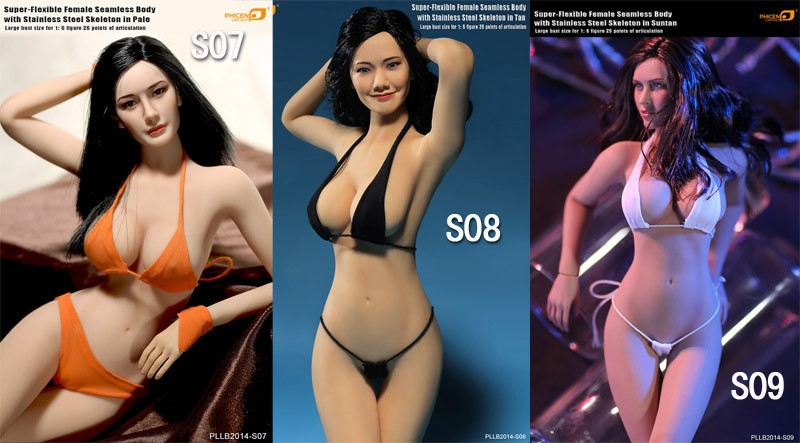 1/6 scale sexy female figure doll 12