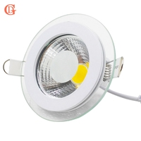 LED Downlight COB Dimmbare 7W 10W 12W 15W 20W 30W LED COB Panel Licht AC85-265V Einbau COB Downlight Glas Abdeckung Unten Licht