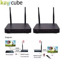 Kaycube HDMI Беспроводной Extender 100 м 2.4 г и 5 ГГц 1080 P комплект приемник передатчик ИК Расширенный Аудио Видео для ПК HDTV DVD плеер