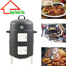 New! 17 Inch Easy Assembly BBQ grill Security Barbecue Fumes Furnace Steel Smoker Barbecue Grilll with Build-in Thermometer
