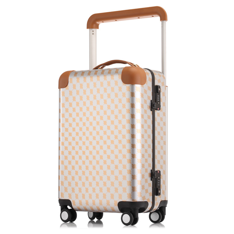 Aluminum Frame Travel Suitcase Trolley Rolling Koffer Boarding Luggage Valise Cabine TSA Lock bavul mala de viagem maletas carro vintage suitcase 20 26 pu leather travel suitcase scratch resistant rolling luggage bags suitcase with tsa lock