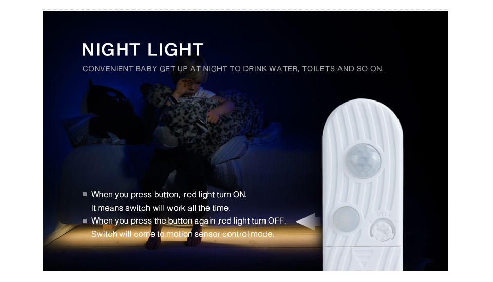 EeeToo PIR LED Night Lights Luminaire With Motion Sensor Lighting USB Led Light Induction Illumination Children's Bedside Lamp (4)