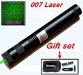 [ReadStar]RedStar 007 high 1W burn match Laser Gift set  Green laser pointer laser pen include pattern cap and battery charger