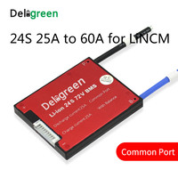 24S 25A 35A 45A 60A 84V PCV/PCB/BMS common port for 3.7V LiNCM battery pack 18650 Lithion Ion Battery Pack protection board