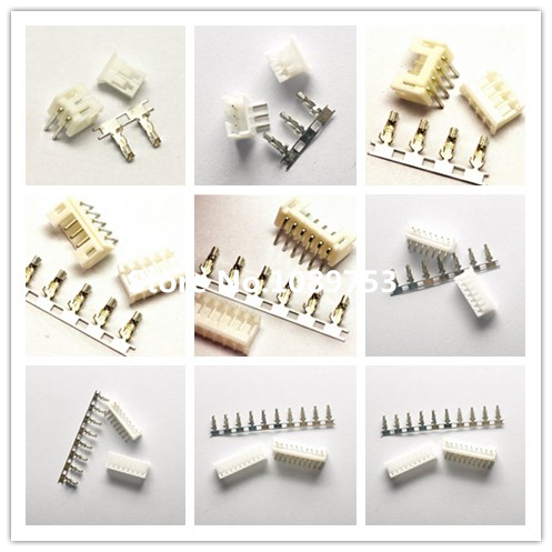 50sets PH2.0 2P 3P 4P 5P 6P 7P 8P 9P 10P <font><b>12P</b></font> <font><b>Connector</b></font> 2.0mm PH 90 angle Header + Housing + Terminal for PCB <font><b>Car</b></font> image