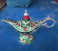 Chiński stare Tybetański srebrny Carving Wine Pot Klasyczne ręcznie Rzeźba Kwiat produkty
